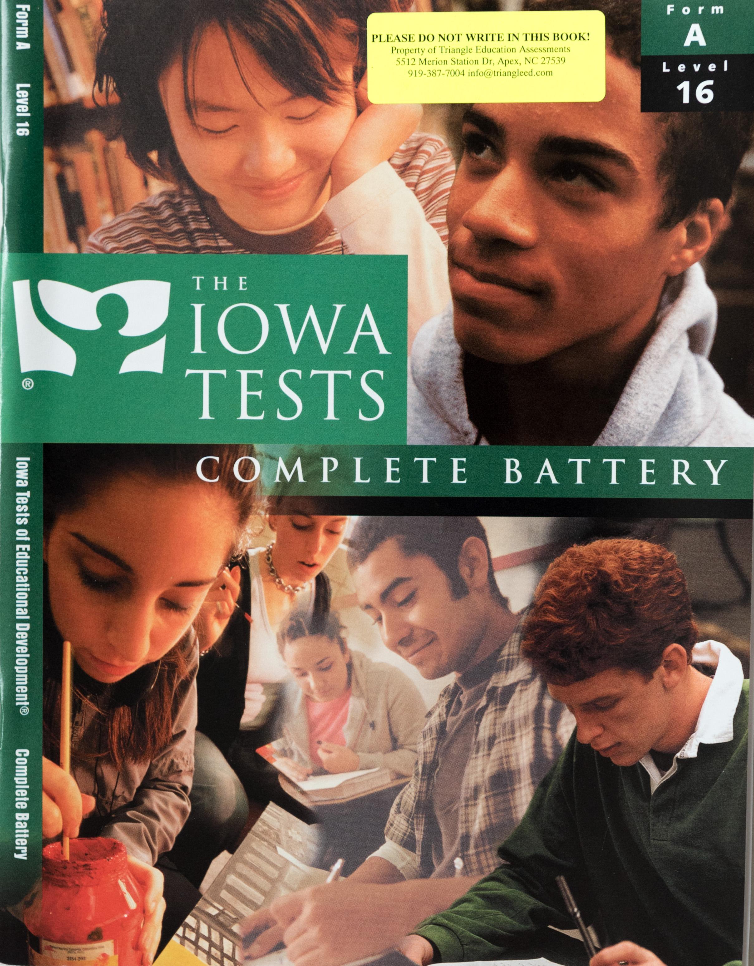 Iowa Test Form A