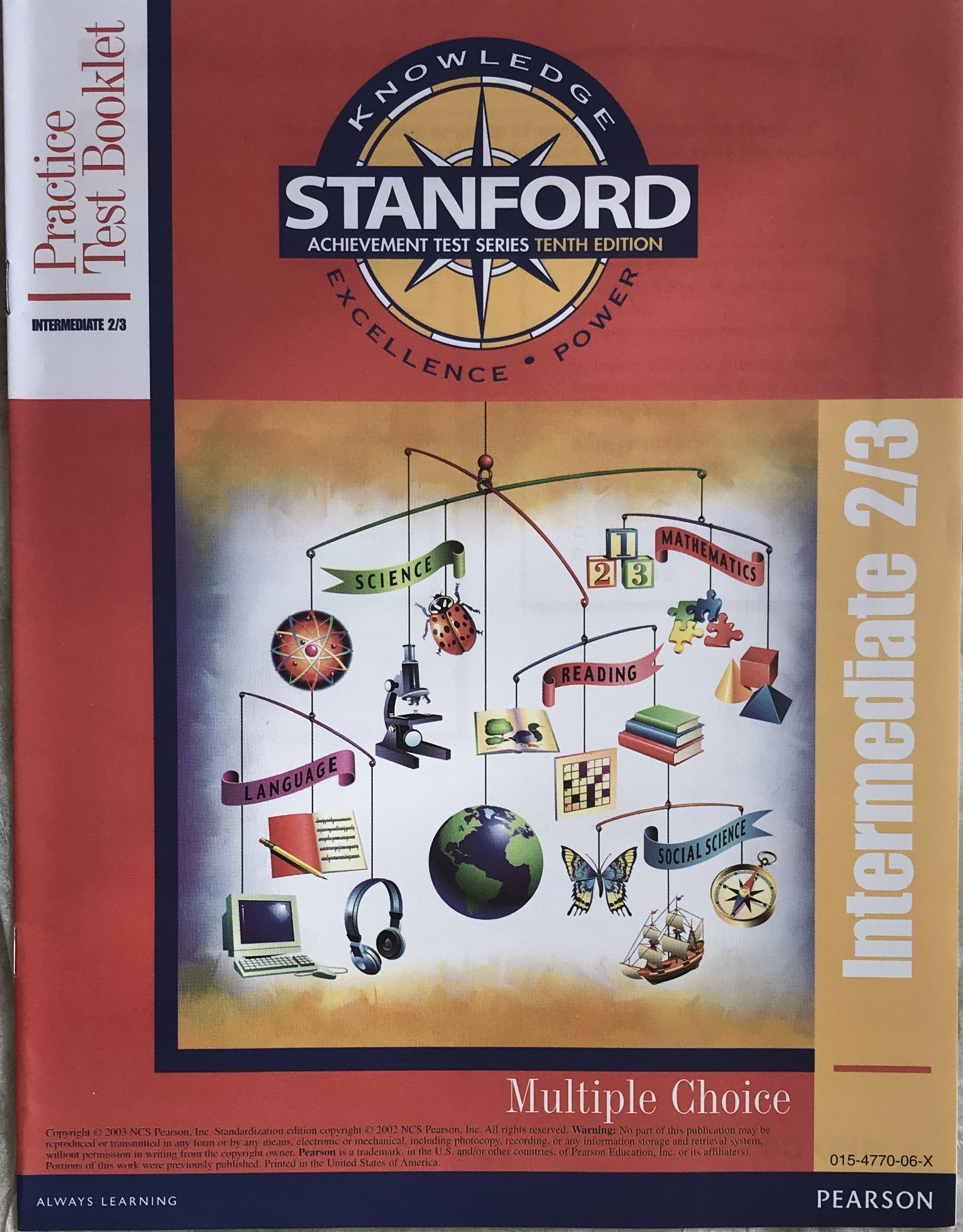 Stanford 10 (SAT/10) Practice Test - Kit